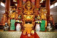 Budda statue inside Sam Poh Tong Temple, Cameron Highlands, Pahang, Malaysia