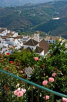 View of town, Frigiliana, Costa Del Sol, Andalucia, Spain