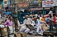 Street scene, Old Delhi, India, Asia