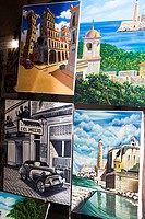 Artwork on sale to tourists, Havana, Cuba