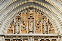 Detail of the side entrance of the Onze-Lieve-Vrouwekathedraal, Church of Our Lady, Antwerp, Belgium, Europe
