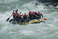 River Rafting Boat in Austria with seven persons