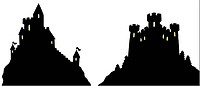 Castles silhouettes
