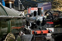 tren en el museo del ferrrocarril en York, Reino Unido