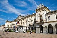 Hotel de Ville, town hall, Piazza Emile Chanoux, Aosta, Aosta Valley, Valle d'Aosta, Italy, Europe