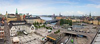 View to Gamla Stan District, Stockholm City, Sweden, Europe