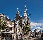 The town hall in Franeker city, Friesland, The Netherlands, Europe