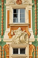 Detail of a Baroque window, Schloss Bruchsal Palace, prince_bishop´s residence, Bruchsal, Baden_Wuerttemberg, Germany, Europe