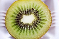 Close up of half a kiwi