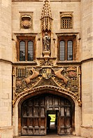 The main entrance of Christ's College, St. Andrews Street, Cambridge, Cambridgeshire, England, United Kingdom, Europe