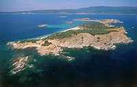 Aerial photograph of the Artemi Island in Greece