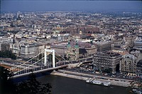 Genarl view of the city of Budapest and the Danube river