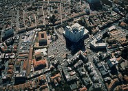 Aerial photograph of modern Jerusalem