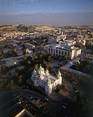 Aerial photograph of the Russian Orthodox church in Jerusalem