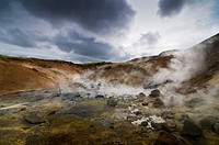 Geothermal area in Krísuvík, Iceland, Europe
