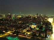 Image of the skyline of Tel Aviv at night
