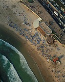 Aerial photograph of the coastline of Tel Aviv