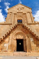 Historic Armenian Orthodox church at Noravank monastery, Armenia, Asia