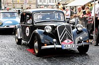 Citroen Traction Avant 15 CV, built in 1950, 2000 km durch Deutschland 2009 rally, 2000 km through Germany in 2009, Schwaebisch Gmuend, Baden-Wuerttem...