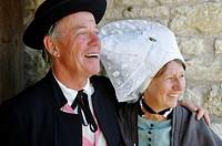 Les Déjhouqués, folk group. Le Grand-Village-Plage. Island of Oleron. Charente Maritime. France.
