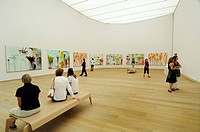 Museum Brandhorst, pictures and sculptures by Cy Twombly on the entire upper floor, Munich, Bavaria, Germany, Europe