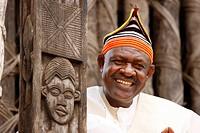 Fon Abumbi II, ruler and judge, chief farmstead, Bafut, West Cameroon, Cameroon, Africa