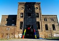Malakow tower, before restoration, former hard coal Carl pit, Altenessen, Essen, Ruhr area, North Rhine-Westphalia, Germany, Europe