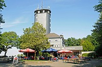 Place of excursions, look_out tower, restaurant, Hohe Bracht, Lennestadt, Ebbegebirge natural park, Sauerland, North Rhine_Westphalia, Germany, Europe