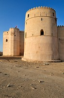 Historic adobe fortification Barka Fort or Castle, Batinah Region, Sultanate of Oman, Arabia, Middle East