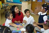 Pre-kindergarten classroom at Crary Elementary school, Detroit, Michigan, USA