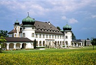 Schloss Hoehenried at Bernried on Starnberger See lake, Oberbayern, Bavaria, Germany, Europe