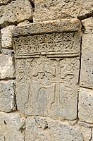 Historic Armenian cross-stone, khachkar, Tatev Monastery, Armenia, Asia