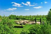 Roman estate Villa Rustica, Wachenheim, Naturpark Pfaelzerwald nature reserve, Palatinate, Rhineland-Palatinate, Germany, Europe