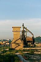 Ex Italsider, former steelwork industrial area, Via Coroglio, Bagnoli quarter, Naples, Campania, Italia, Europe
