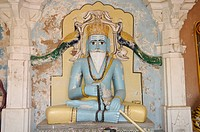 Statue in the Hall of Heroes, Mandor in Jodhpur, Rajasthan, northern India, Asia