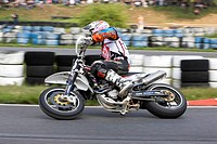 Motorcyclist, 16. ADAC Supermoto, German Supermoto Cup in Schaafheim, Hesse, Germany, Europe