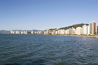 Downtown of Florinópolis, View Starting from the Sea From Within, Borders of the North Bay, Santa Catarina, Brazil