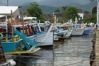 Boats, Landscape, Paraty, Rio de Janeiro, Brazil