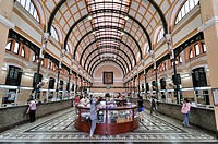 Hall in the main post office, Ho Chi Minh City, Saigon, Vietnam, Southeast Asia