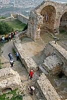 Ruins of castle, La Pobla de Claramunt. Barcelona province, Catalonia, Spain