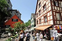 Meersburg on Lake Constance, Baden-Wuerttemberg, Germany, Europe