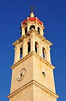 Tower of the Church Sveti Ivan, Sutivan, Island Brac, Dalmatia, Croatia, Balkans, Europe