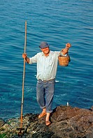 Fisherman, Aegina, Greek island, Greece
