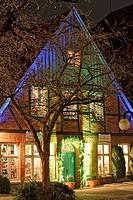Christmas illumination, market square, Eutin, Schleswig-Holstein, Germany