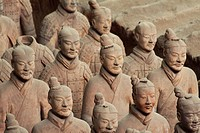 Unique faces of the Terra Cotta Warriors in Xi´an China