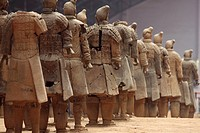Rows of warriors at the Terra Cotta Army, Xi´an China