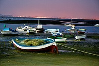 Boats, Chiclana de la Frontera. Cadiz province, Andalusia, Spain