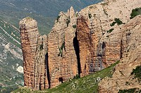 rock formation near Riglos, Spain, Pyrenaeen, Mallos de Riglos, Riglos