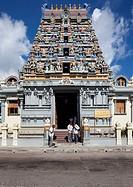 Hindu Sri Vinayagar Navasakthi temple on Quincy Street, Victoria, Mahe Island, Seychelles, Indian Ocean, Africa
