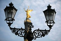 Victory column and lanterns at the Grosser Stern roundabout, Berlin, Germany, Europe